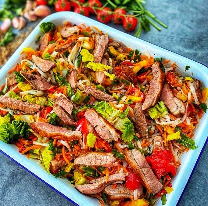Bún Chay Duck Salad