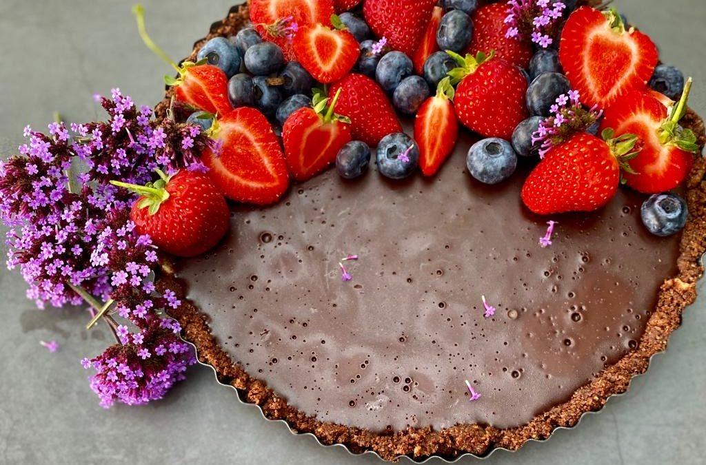 Vegan Friendly Dark Chocolate Torte!